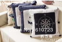 whole sales,cotton pillow,cotton cushion,Marine wind fluid blue stripe sofa cushion pillow kaozhen square pillow core
