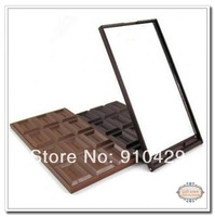 Free shipping  Super popular 12 cell Chocolate make-up mirror pocket cosmetic mirror Wholesale O