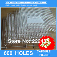 000#, 00#,0#,1#,2# 600 Holes Capsule Filling Machine, Capsule Filling Board   Without Tamping Tool