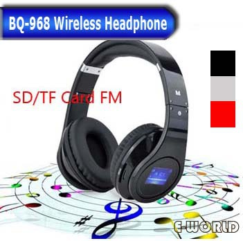 Wireless Stereo Headset Music radio headphones gaming BQ-968 support TF card MP3 Player Fol