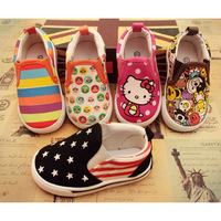 EU Size 21-25 Brand Children Canvas Shoes Children Sneakers  with Cartoon pattern for boys and girls 10 Colors 61210-3 ON SALE