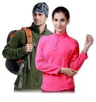 Man Women Lover Windbreaker Windtour outdoor Long SleeveSoft Shell Fleece clothing thickening Windproof thermal jacket liner