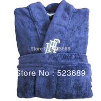 2014 New Autumn and winter male plus size coral fleece robe blue lounge thickening bathrobe ultra long coral fleece sleepwear
