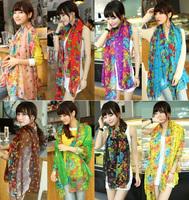 2014 wholesale women's winter scarf ladies cotton voile scarves women national floral print silk scarf shawl bufanda para mujer