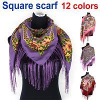Fashion hot sale women square scarf printed,2014 women brand wraps winter ladies scarf free shipping