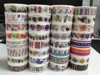 1392 ! new patternschina wholesale tape design decorative DIY decorating christmas pattern logo rainbow402pcs/Lot