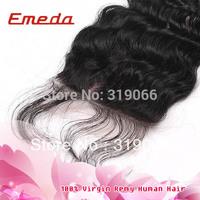 Emeda 5A Malaysian Virgin Hair with Closure 4x4 Cheap Silk Base Closures for Black Women Virgin Curly Hair