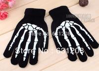 Skull gloves man glove women black guantes men luva luvas mitten craneo  Paw Halloween cosplay gloves cheap top cranio crane