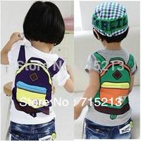 Free Shipping New 2014 fashion boys children's school bag printing short-sleeved T-shirt colorful cotton boy tops