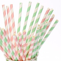 "235 Assorted Designs of 7.75"" Party Drinking Paper Straws Diamond Circle Striped chevron Polka Dot"