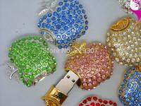 Free shipping jewelry heart  USB Flash drive 2GB 4GB 8GB 16GB 32GB Memory stick Pen Drive Thumb drives
