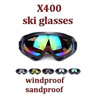 UV Protection Ski glasses Snowboard Skate Goggles Motorcycle Off-Road Cycling Goggle Glasses Eyewear Lens Outdoor Sports  1pc