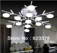 DHL Free shipping LED Snowflake energy-saving fashion modern creative lighting atmosphere Chandelier lamp ceiling lamp CL10