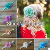 2014 new Flower Headbands infant headbands fabric flower headbands girls hair accessories 10 colors STOCK 30pcs/lot