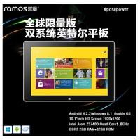 Free Shipping,Ramos i10 Pro Tablet PC Intel Atom Z3740D Quad Core1.8GHz 2GRAM 32GROM Android 4.2+Windows8.1 GPS Bluetooth WIFI