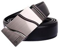 Fashion Genuine leather belt for men Business men Belts Automatic Buckle double faced cowhide belt  MZ003 Cintos cinturon