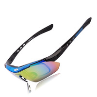 WOLFBIKE Polarized Cycling Sun Glasses Outdoor Sports Bicycle Glasses Bike Sunglasses Driving Racing Goggles Eyewear 5 Lens Blue