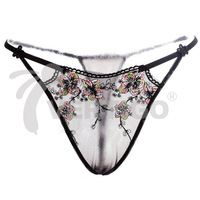 Woman's Underwear Lace Briefs Delicate Embroidery Lace Panties Free Size
