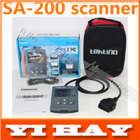 Newest SA-200 compact automotive scanner Color LCD Display code reader support  OBD II EOBD JOBD CAN protocols, Multi-language