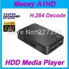 TV BOX Measy A1HD Full HD HDMI 1080p USB MKV/AVCHD/MOV/H.264 TV Box Network Media Video advertising player 3D SD Card blu ray(China (Mainland))