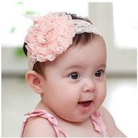 Baby Flower Headband Lace Rose Hair Band Barrette Toddler Girls Accessories Summer Autumn Headwear Retail 3 pcs/lot