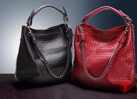 2014 Emboss Woven Famous Vintage bag Genuine Leather Handbag Women messenger bags handbags designers brand totes shoulder bags