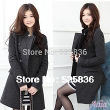 casacos femininos new 2014 women coat new fashion women's slim wool blended bouble-breasted coat winter coat women woollen coat(China (Mainland))