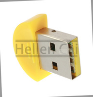 1 pcs yellow  Mini Smart Bluetooth Wireless Dongle Adapter USB 2.0 for PDA Mobile Phone PC