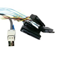 External Mini SAS HD 4x SFF-8644 to 4 SAS SFF-8482 29PIN 6Gbps Hard Disk data server Raid Cable 150cm