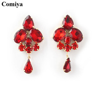 New big zircon fashion colorful crystal stud earrings fashion 2014 free shipping  brand cc bijoux bijouterie tardis vaz faca