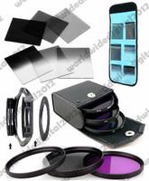 6pcs ND2 ND4 ND8 Gradual ND2 4 8 Filter Set +  Ring Adapter for Cokin P + 49MM UV CPL FLD Filter Kit for Sony NEX-3 NEX-5 NEX-6