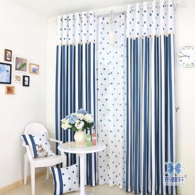 Navy Blue Polka Dot Curtains Curtain Stripe Polka Dot
