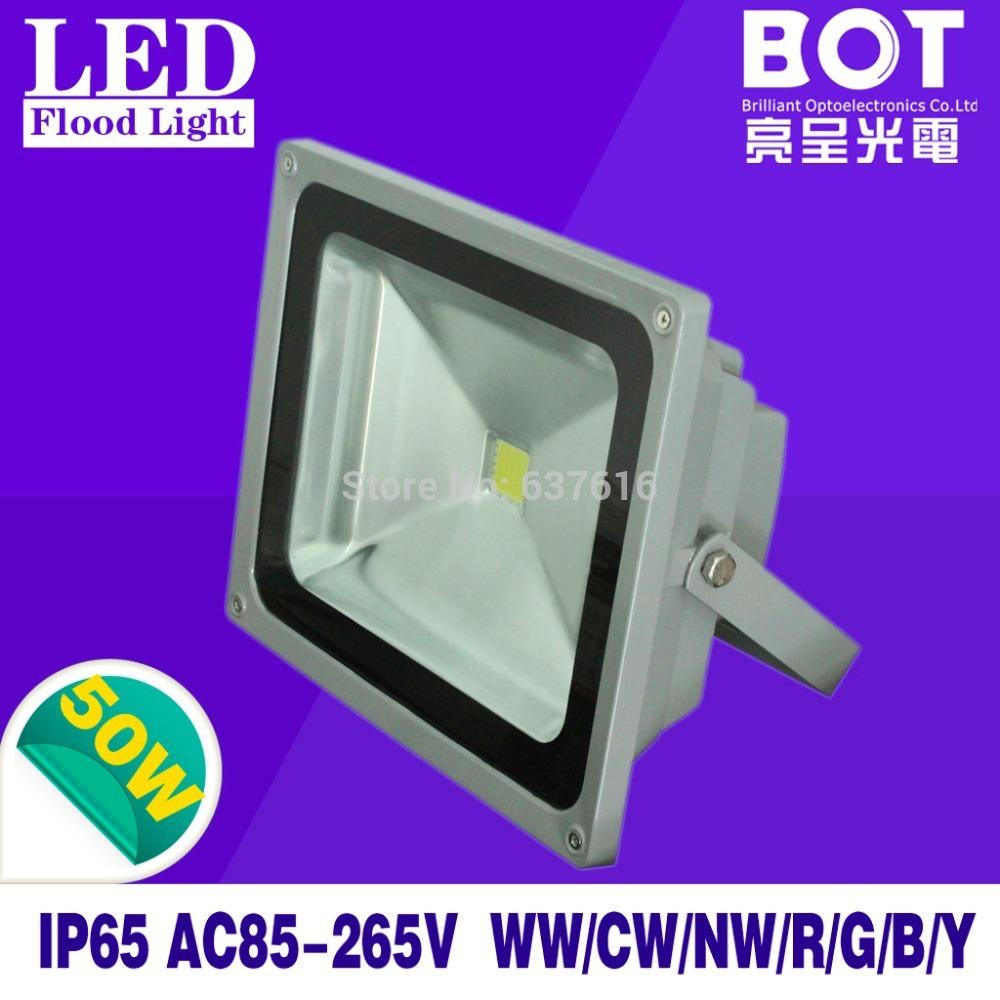 Vente d'usine! Lumière d'inondation de led lampe de publicité 85-265v 50w éclairage paysager étanche.ip65 projecteur extérieur réverbère