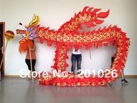 10m Length Size 3 silk print fabric  red Chinese DRAGON DANCE ORIGINAL Dragon Chinese Folk Festival Celebration Costume