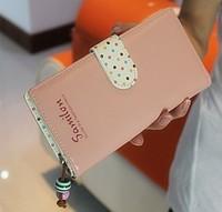 2013 polka dot multi card holder zipper women's long design wallet female bag female wallet