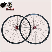 Free shipping Disc brake 24mm clincher carbon  wheels road wheels/ carbon fiber Cyclocross wheelset
