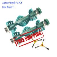 Free Shipping  2 pcs /Lot  main brush Agitator Brush  Side brush *1 for Ecovacs Deebot D73 D76 Vacuum cleaners