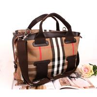 free shipping Women's handbag fashion grid cloth bags 2014 check canvas bag 3026 preppy style