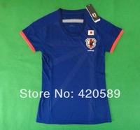 2014 world cup Japan home women soccer football jersey KAGAWA HONDA best thai quality soccer jerseys uniforms embroidery logo