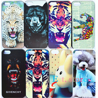 2014 new arrival cute animals series case for apple iphone 5 5S color drawing emboss case for iphone5 lovely back cover hot sell