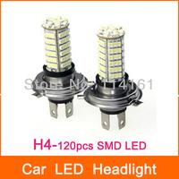 H4 Car LED Fog Lights Car Lamp SMD 3528 Parking Auto Car HeadLight LED Bulb - 2pcs/lot