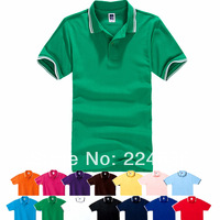 dicount polo men olid color  free shipping polo men  short-sleeve man polo commercial turn-down collar short-sleeve
