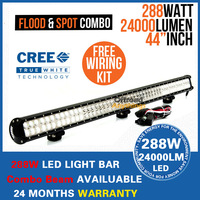 "44"" inch 288W Offroad LED Driving Light Bar, Cree work working light lamp for suv jeep truck tractor"