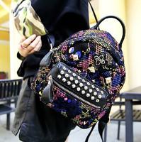 Somen shoulder Bag Rivet For Women Girl Lady Handbag Tote Shoulder Bag Fashion 100% Genuine Leather Snakeskin Bag