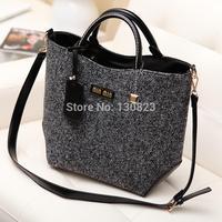 2014 Women Handbags Bolsas Sfb-027 Winter New Retro Handbags Blending Woolen Bag Ms. Portable Shoulder Wholesale