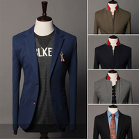 New 2014 designer brand two buttons slim fit candy color men casual blazer suit jacket