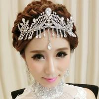Colour bride rhinestone tassel big princess married hair accessory hair accessory