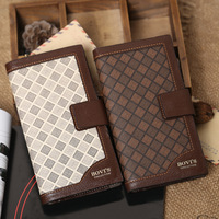 Wallets 2014 New Men's Long Design Wallets Money Bag ID Cards Holder Man Wallet Purse Clutch Wallet Luxury Style 2Colors M12