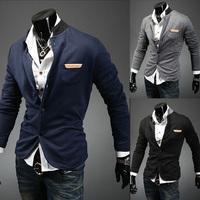 Brand New 2014 Men's Suit Blazer Jacket Fight Skin Color Standard Design Cardigan Tunic Coat Blaser