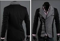 jackets for men New Brand Fashion blazer men 2014, Black slim zipper casual givency men jacket/coat /suit  Wholesale&Retail